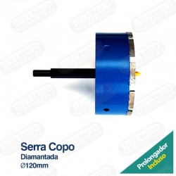 Serra Copo Diamantada 120mm...